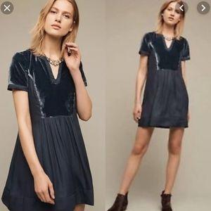 Anthropologie Maeve Ingrid Velvet Tunic Dress